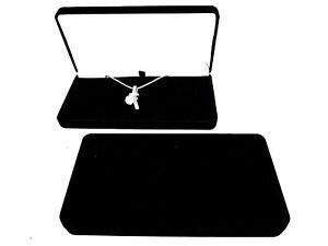 Luxury Black Velvet Jewellery Necklace/Pendant Gift Display Box-Present-New
