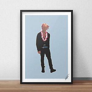 Lil Uzi Vert INSPIRED WALL ART Print / Poster A4 A3 rap HIP HOP Money Longer