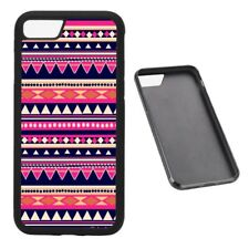 Pink Aztec Pattern RUBBER phone case Fits iPhone