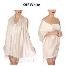 All Seasons Soft Silky Solid Pashmina Scarf Shawl Wrap Stole Wool Silk Blend