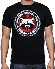 Guardians Of The Galaxy Rocket Raccoon Powered Superhero Sci-Fi Black T Shirt
