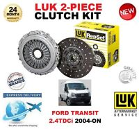FOR FORD TRANSIT 2.4 TDCi + 4WD 2004-ON LUK CLUTCH KIT 2 PIECE EO QUALITY