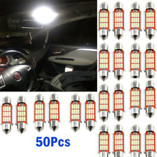50pcs 4014 36mm 12 SMD LED Festoon Dome Lamp Car License Plate Light