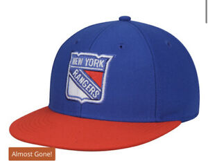 New York Rangers adidas Basic Two-Tone Fitted Hat - Blue Size 7