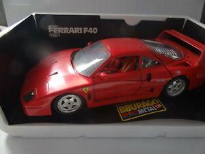 BURAGO FERRARI F40 1987 MODELLAUTO 1:18 SAMMLER MODELL OVP