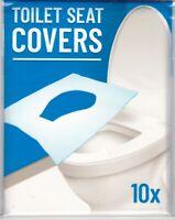 LOT DE 10 X COUVRE SIEGE TOILETTE WC - JETABLE - VOYAGE, CAMPING - 100% NEUF