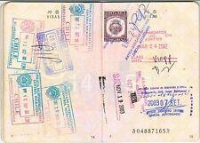 Korea 2002 Document with Consular Costa Rica $20 revenue