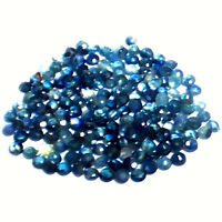 AMAZING Natural Blue Sapphire Unheated Lot 10pcs Round 2.3 mm. Loose Gemstones