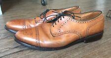 Allen Edmonds 5347 Sanford Whiskey Tan Cap Toe Oxford Leather Shoes 10.5 D