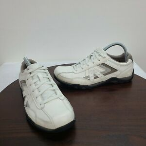 Skechers Leather Relaxed Step Shoes White Lace Up Mens Size 9