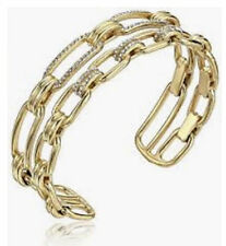 Pave Double Cuff Bracelet Msrp $115.00 Nwt Michael Kors Mkj6957710 Iconic Link