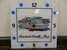 """*NEW* 15"""" CORRECT CRAFT BOAT WATERCRAFT SQUARE GLASS clock FACE FOR PAM"""