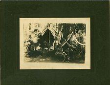 Photo of People Camping at Yosemite, California - Circa: 1895