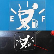 White Funny Pull Fuel Tank Pointer To Full Hellaflush Vinyl Car Sticker Decal