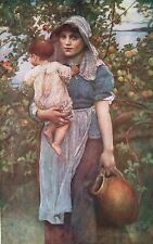 """A.L. SWYNNERTON Late 1800s Oil Painting """"THE YOUNG MOTHER"""" 1930 Art Book Print"""