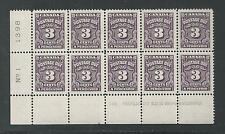 CANADA # J-16B MNH POSTAGE DUE (Plate Block of Ten)   (8272)