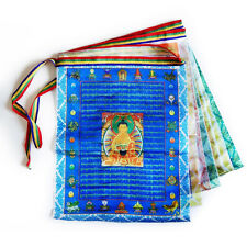 Tibetan Buddhist Prayer Flags /Contain 10 Flags/ Ten Tibetan Scriptures