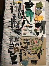ACCESORY LOT Gi Joe Hall Of Fame weapons Clothes Dog tags Guns Knifes VTG TOYS