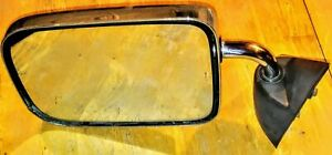 87-96 Dodge Dakota LH Driver Side View Mirror Manual Chrome & Black OEM 4432775