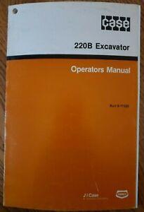 CASE 220B EXCAVATOR OPERATORS MANUAL Burl 9-11320