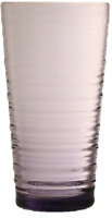 Pasabahce Rippled Glass HighBall Tumbler Stackable Purple Water Glasses Set of 6