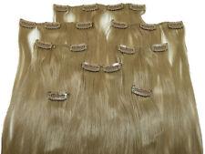 Clip In Kunsthaar Set 8-teilig glatt goldblond HaarverlängerungExtensions Hair