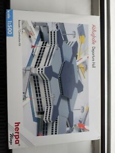 Herpa 519663 Airport Hexagonal Departure Hall  Building NEW/SEALED 1/500 RARE
