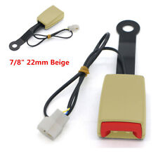 Car Seat Belt Lock Buckle Safety Belt Socket Plug With Warning Cable Accessories