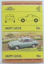 1958 ABARTH BIALBERO Car Stamps (Leaders of the World / Auto 100)