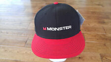 MONSTER DRINK BLACK RED TRUCKER CAP HAT SNAPBACK NWT 7 1/8 PACIFIC D SERIES