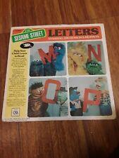 Sesame Street Letters M N O P EP 45 RPM Vintage  Jim Henson Muppets Record 1976