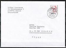 Bund BRD 1397 portoger. EF 500 Pf Frauen auf Auslands-Brief 50-100g Polen/AnkStp