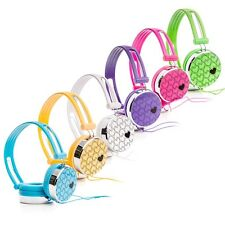 RockPapa Love Hearts DJ Headphones Earphones Over-Ear for Childs Kids Boys Girls