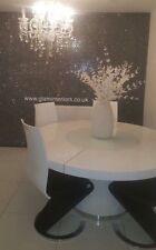 Grade 3 Glamour Black & Silver Glitter Fabric Wallpaper In Stock