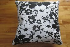 2 Lauren Ralph Lauren Pillow Covers Black & White Floral Zipper 20X20  Have 4