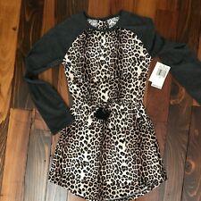 NWT Jessica Simpson Girls Leopard Print Raglan Dress Size Medium