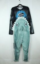 Shark Eating Man Halloween Costume Bodysuit Jaws Shark Attack Large L