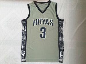 Allen Iverson #3 Georgetown Hoyas Basketball Men Jersey Black & Blue  - S to 5XL