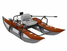 Pontoon Boat Inflatable Fishing Kayak Paddle Angler Motor Mount Rowboat Oars New