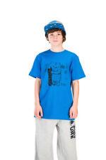 Camisetas de hombre azules de algodón orgánico