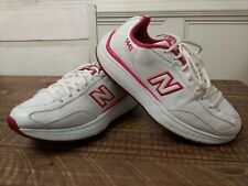 New Balance Leather WW1442PK Womens Walking Toning Shoes Size 9 White/Pink