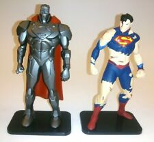 """Steel & Superman 4.5"""" Figures From THE DEATH AND RETURN OF SUPERMAN Lot of 2"""