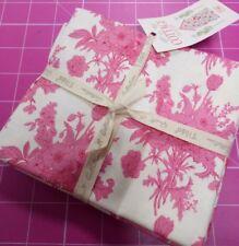 Tilda Cottage Pink/Plum fat quarter bundle, 5 pieces, free p+p, 100% cotton,