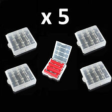 5 x AA Batería AAA casos-Soporte de almacenamiento seguro Baterías Recargables Estuche Duro
