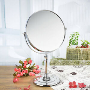 Magnifying Make Up Cosmetic Mirror 360° Rotation Table Stand 8in Double Side