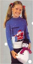 Children's DK Father Christmas Sweater and Chunky Snowman Toy Knitting Pattern