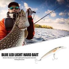 Electric Vibration Fishing Lure Blue LED Rechargeable Attractant False Bait JF#E