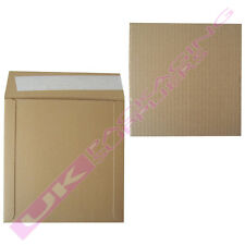 """25 BROWN 7"""" RECORD VINYL MAILERS + 30 STIFFENER PADS +  FREE FRAGILE LABELS"""