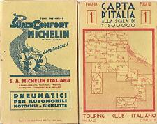 TOURING CLUB ITALIANO  CARTA D'ITALIA  FOGLIO 6 - AOSTA - COMO - BERNA