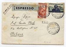 STORIA POSTALE 1951 LAVORO + VERDI LIRE 25+60 SU EX MACERATA PELTRIA 12/12D07652